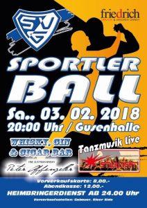 Plakat Sportlerball 2018
